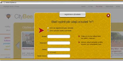 Registrace vizitky